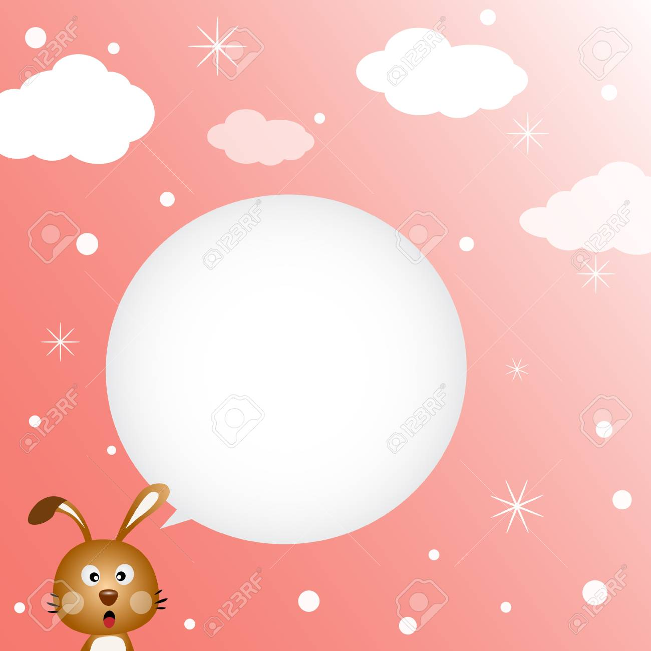 Rabbit speaking with a speech bubble Stock Vector - 18056880