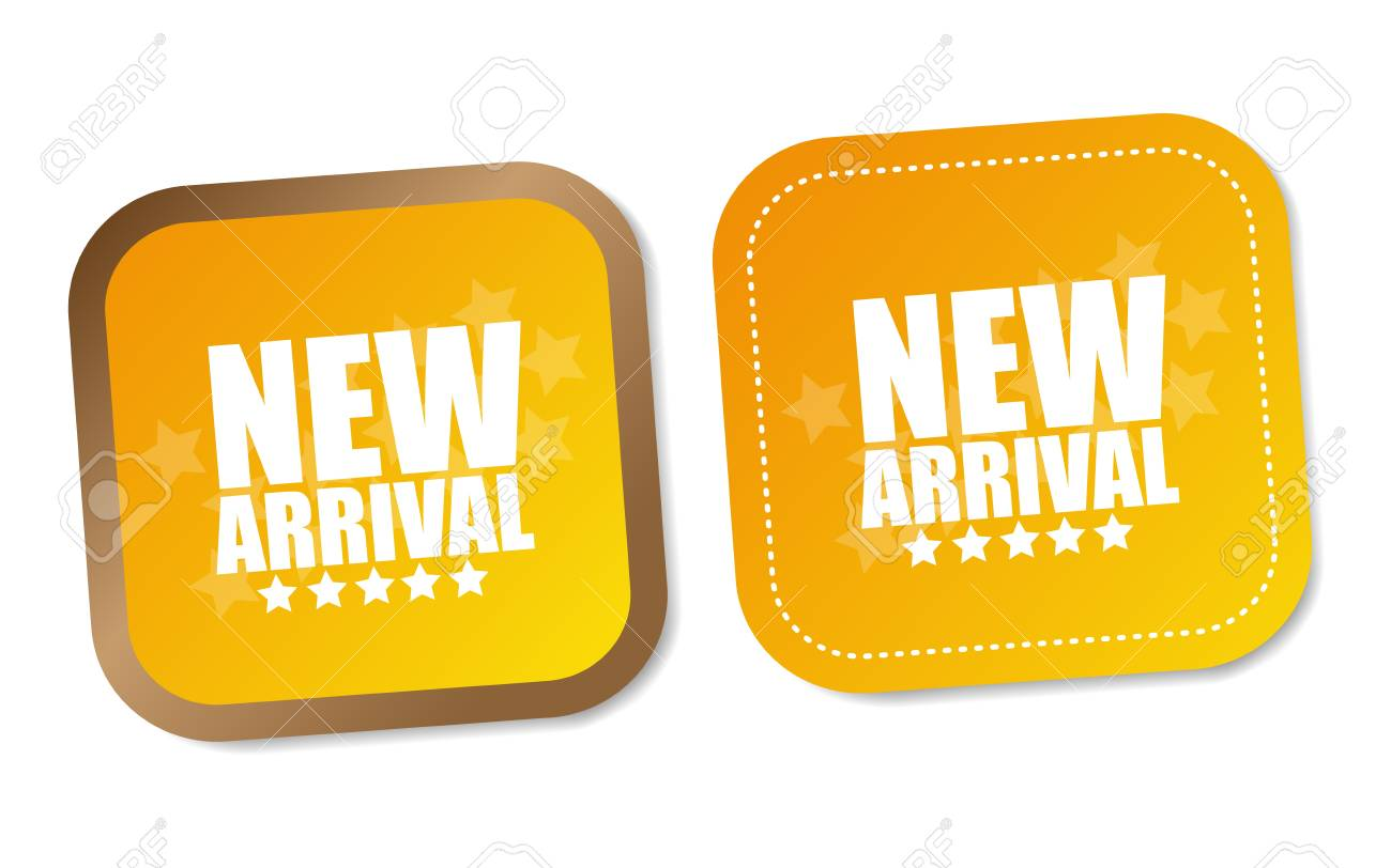 New arrival stickers Stock Vector - 18545376