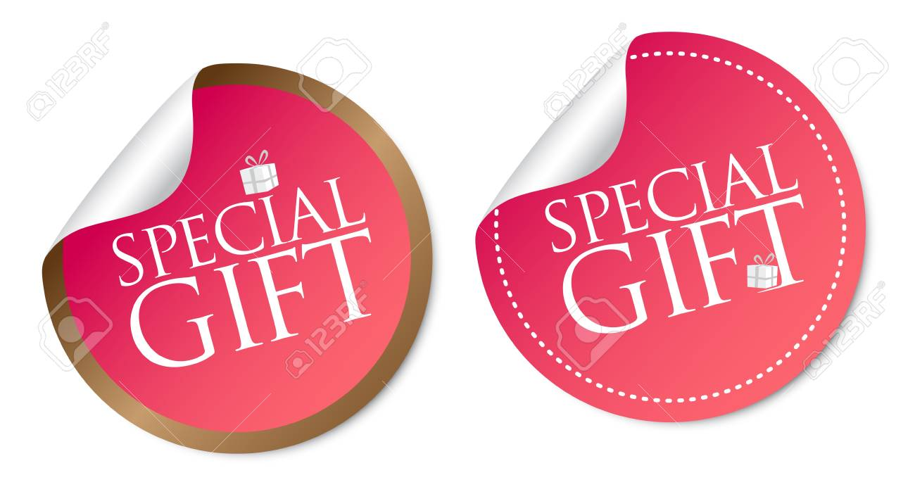 Special Gift Stickers Stock Vector - 18731065