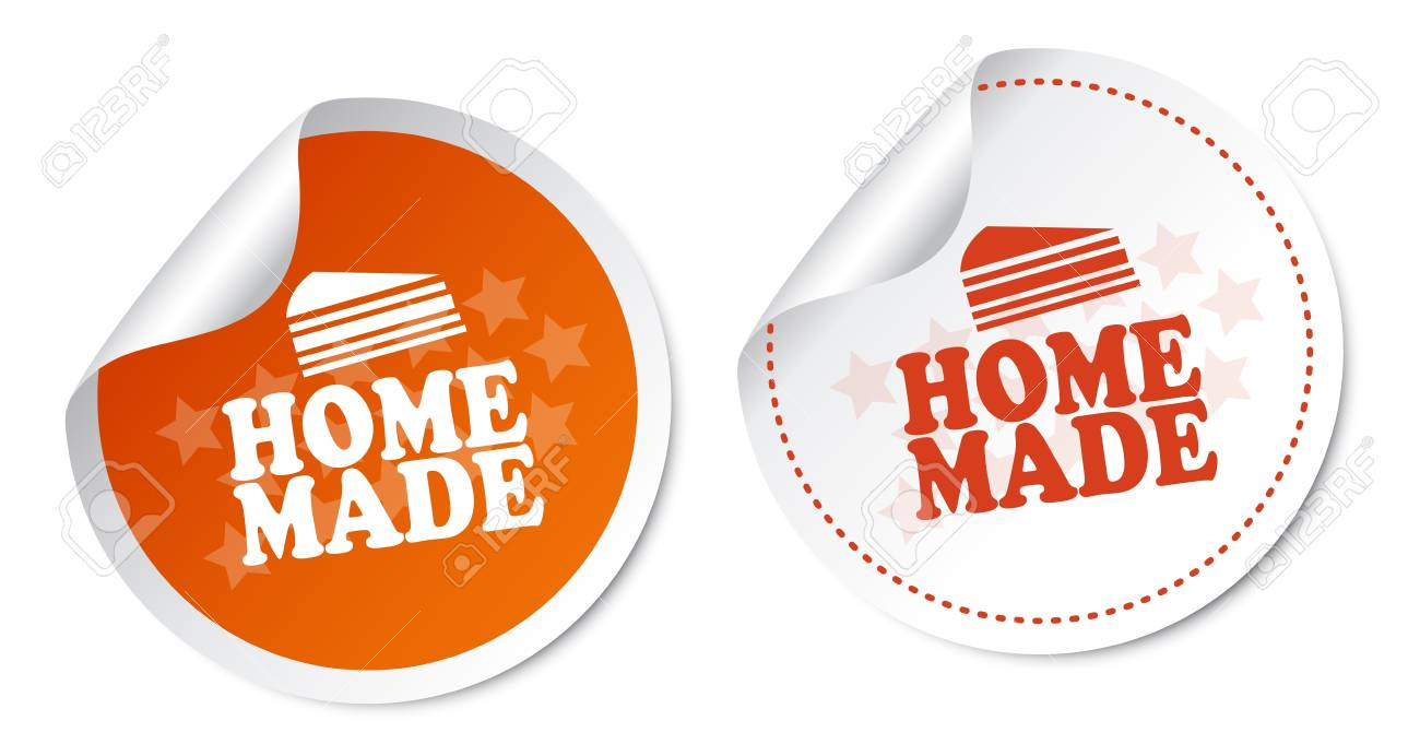 Home Made Stickers Stock Vector - 19097509