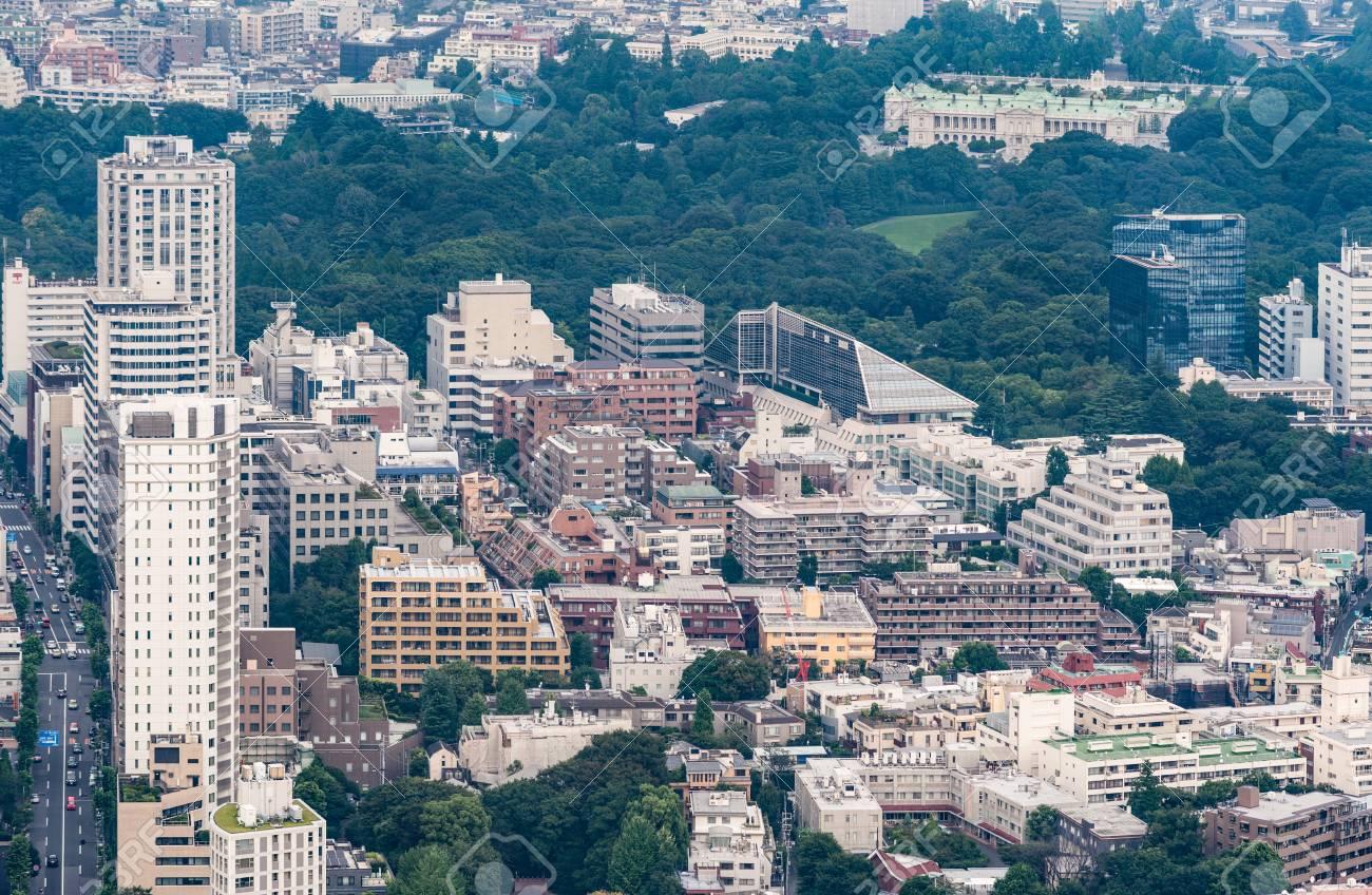 Tokyo japon 26 septembre 2016: vue aérienne depuis la tour de l