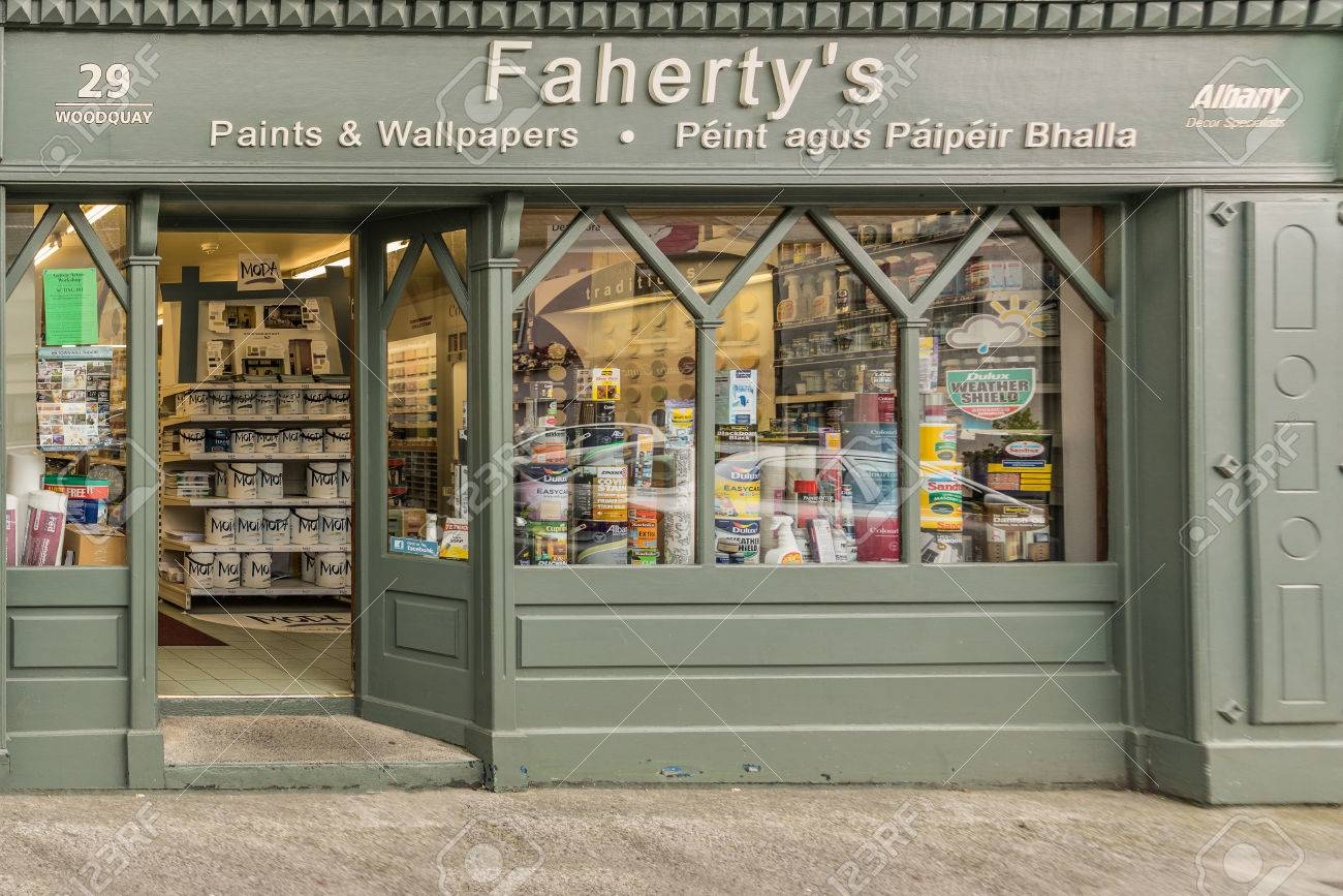 Galway Ireland August 3 2017 Small Business Paint And Wallpaper