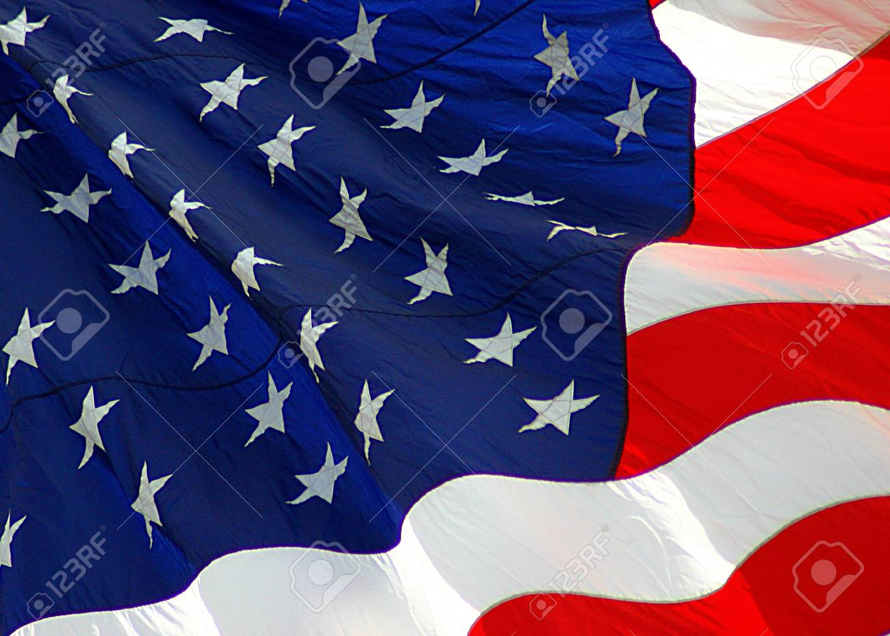 American Flag Close-up Stock Photo - 349057