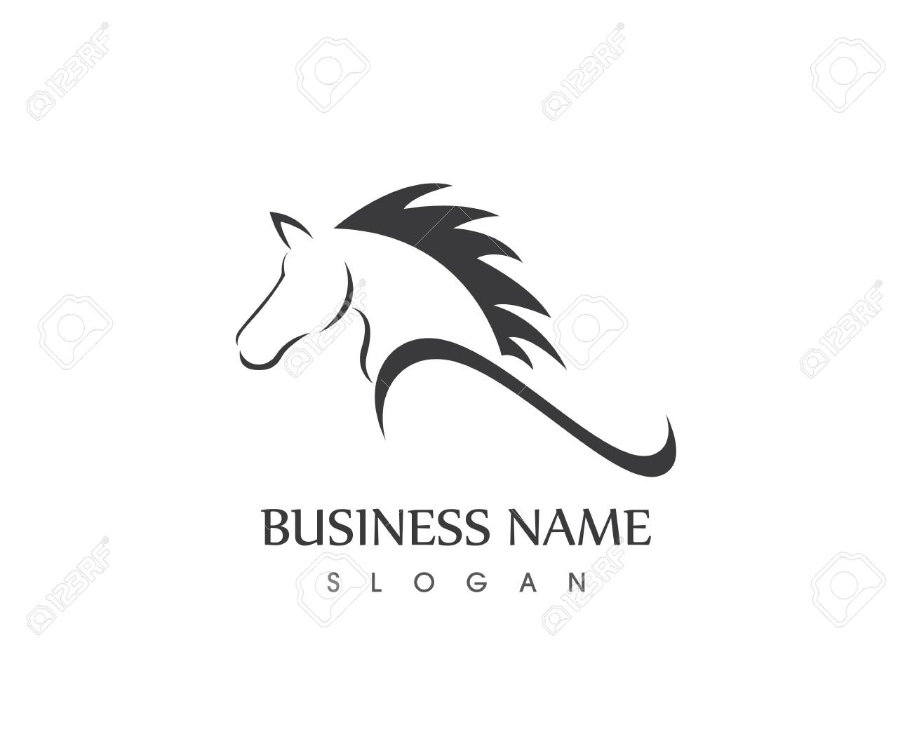 Horse Head Silhouette Vector Design Tattoo Logo Royalty Free Cliparts Vectors And Stock Illustration Image 82425808