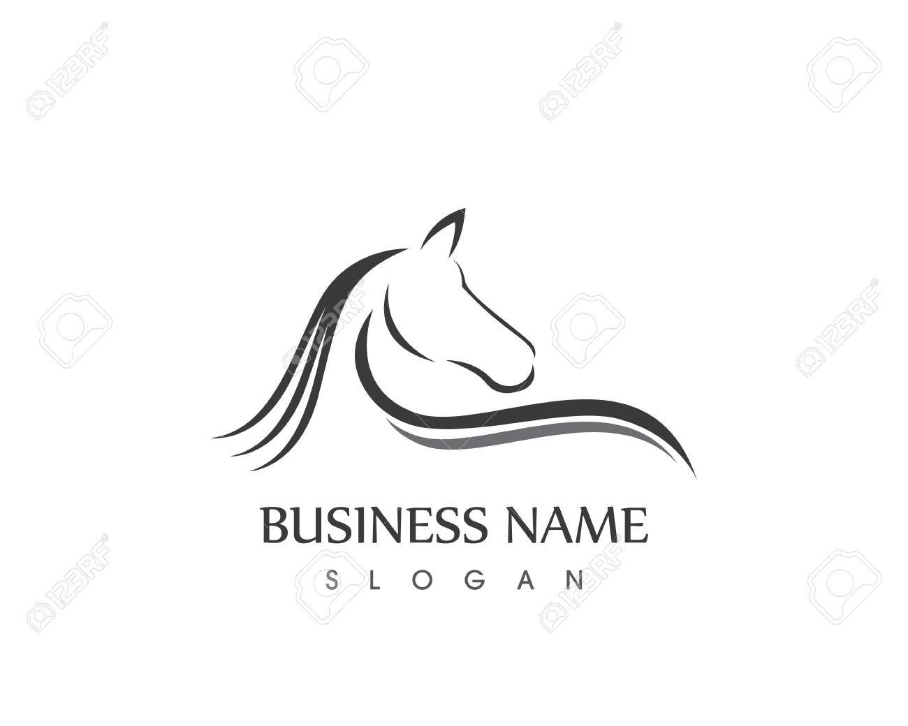 Horse Head Silhouette Logo Vector Design Royalty Free Cliparts Vectors And Stock Illustration Image 82438314