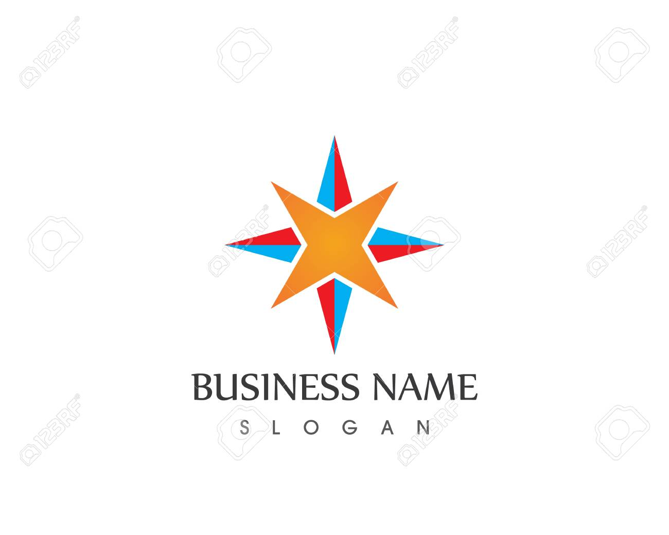 vector compass signs and symbols logo template royalty free