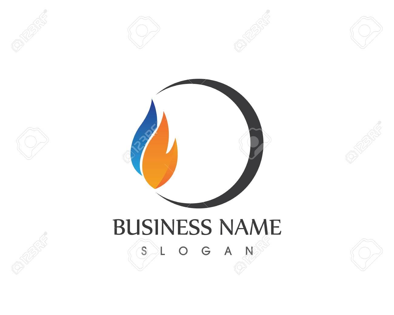 fire flame logo vector template ロイヤリティフリークリップアート