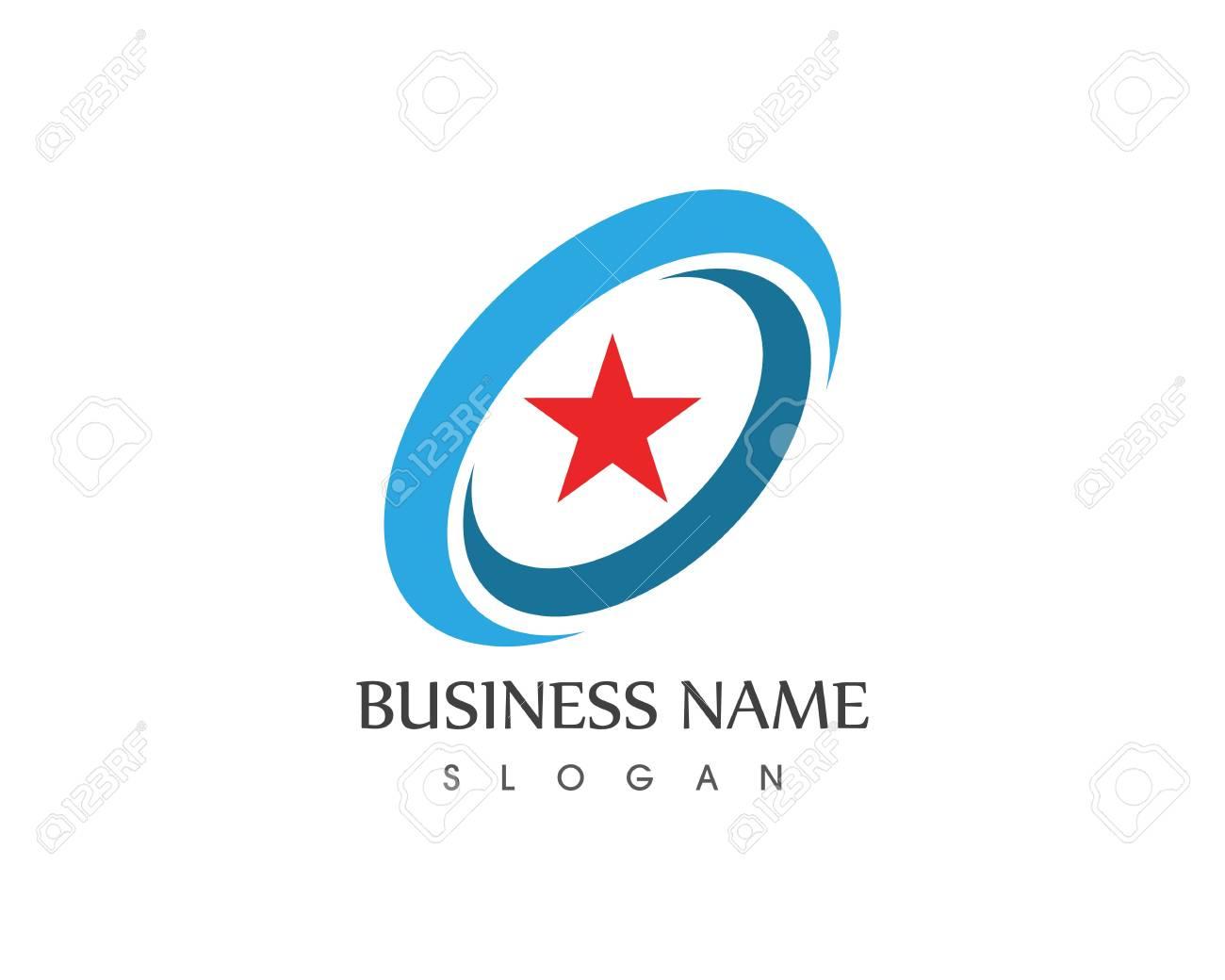 Star Icon Logo Vector Template Stock