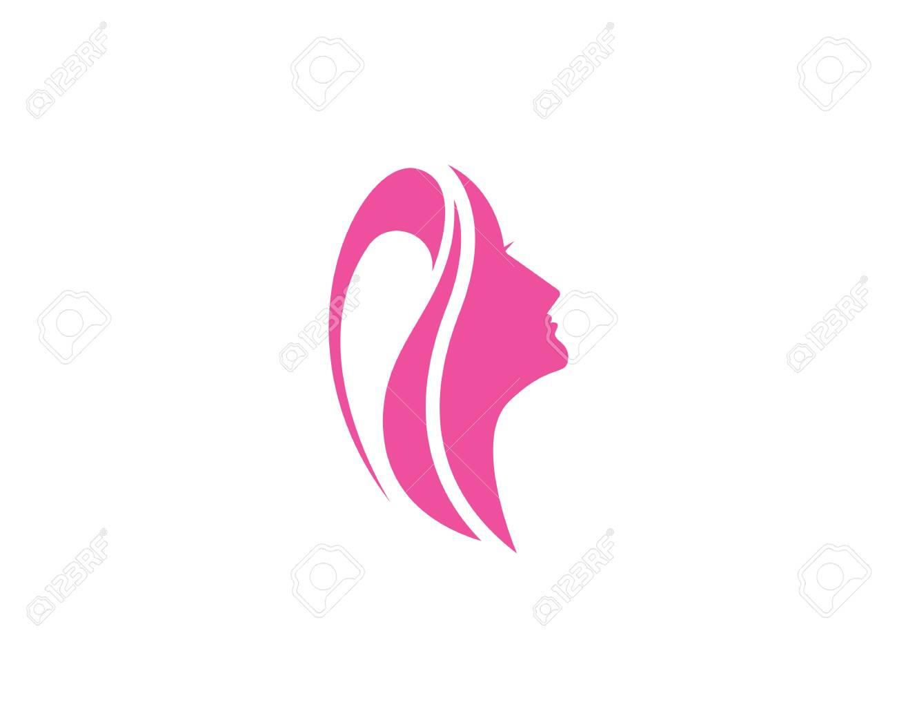 Face Woman Beauty Spa Logo Design Illustration Royalty Free