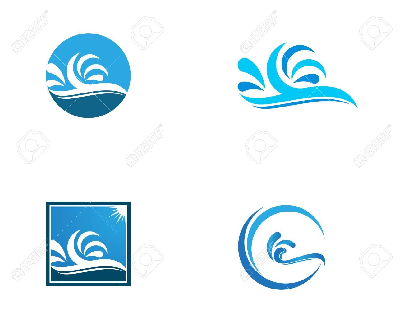 Water Wave Splash Logo Vector Template Clip Art Libres De Droits