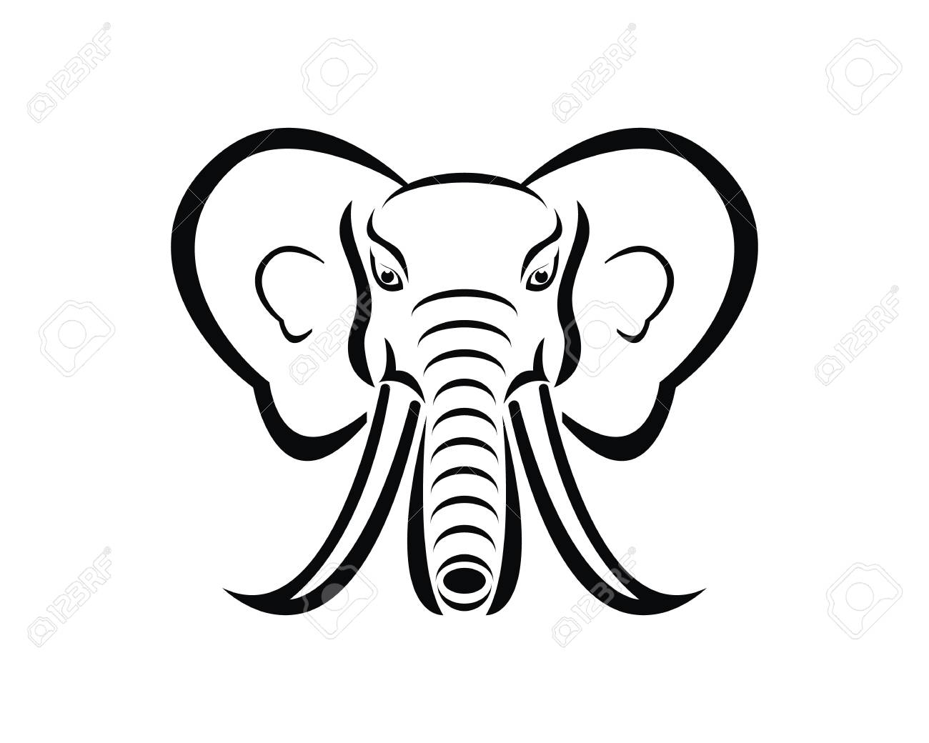 d2e537832 Elephant Logo Design Vector Illustration Royalty Free Cliparts ...