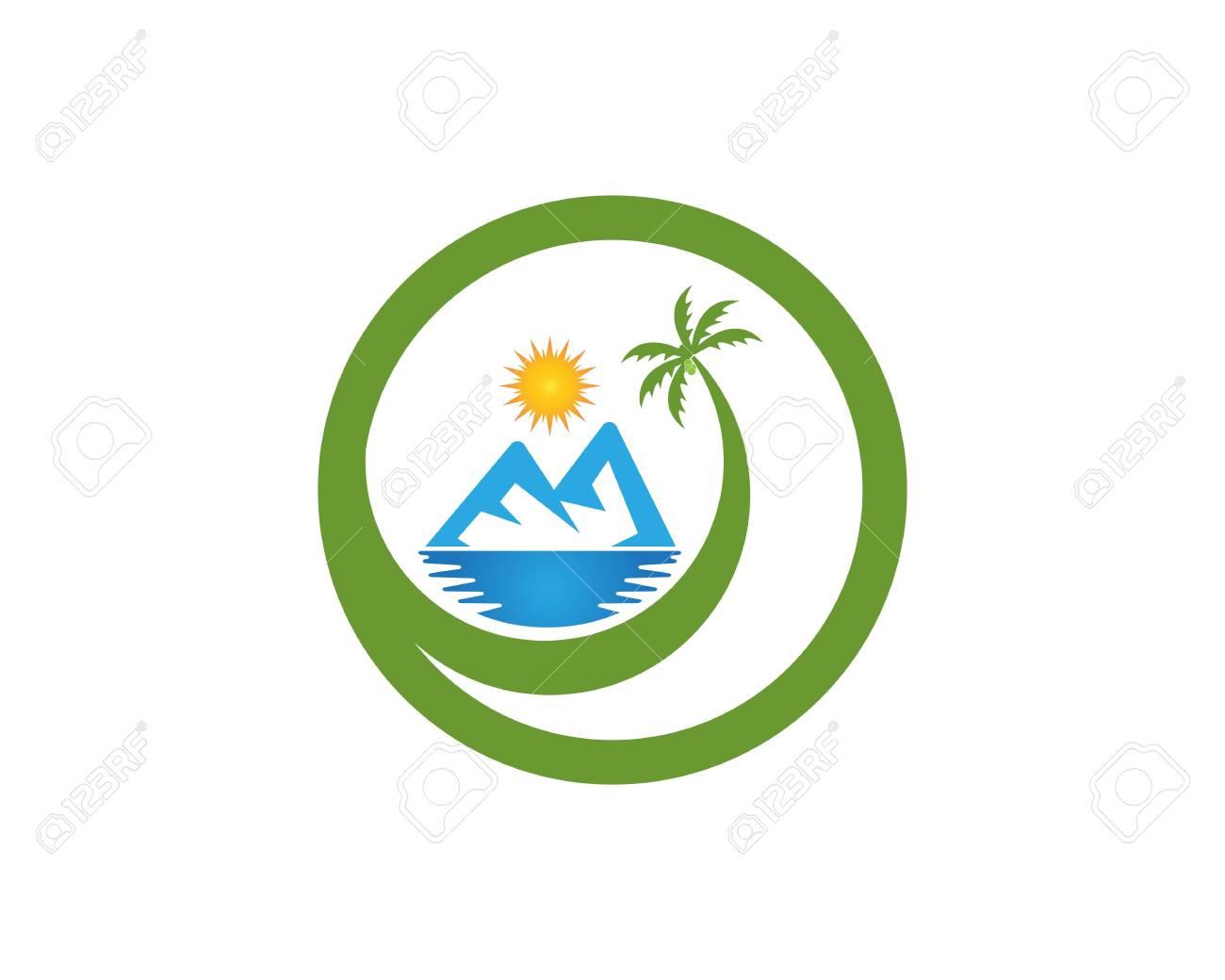 Beach hollidays icon logo vector trmplate - 114696269