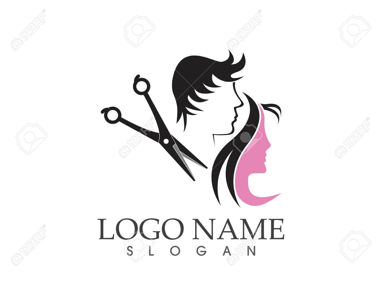 Haircut style logo design vector illustration