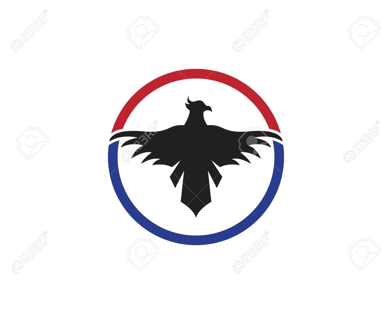 Falcon Eagle Bird Template vector icon