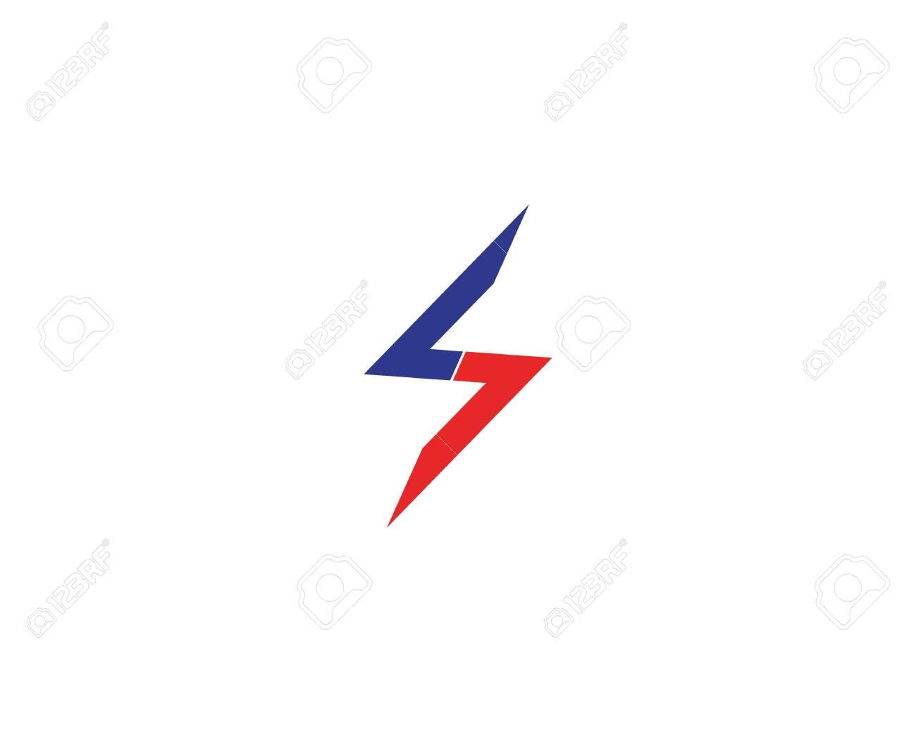 Lightning power flash logo vector