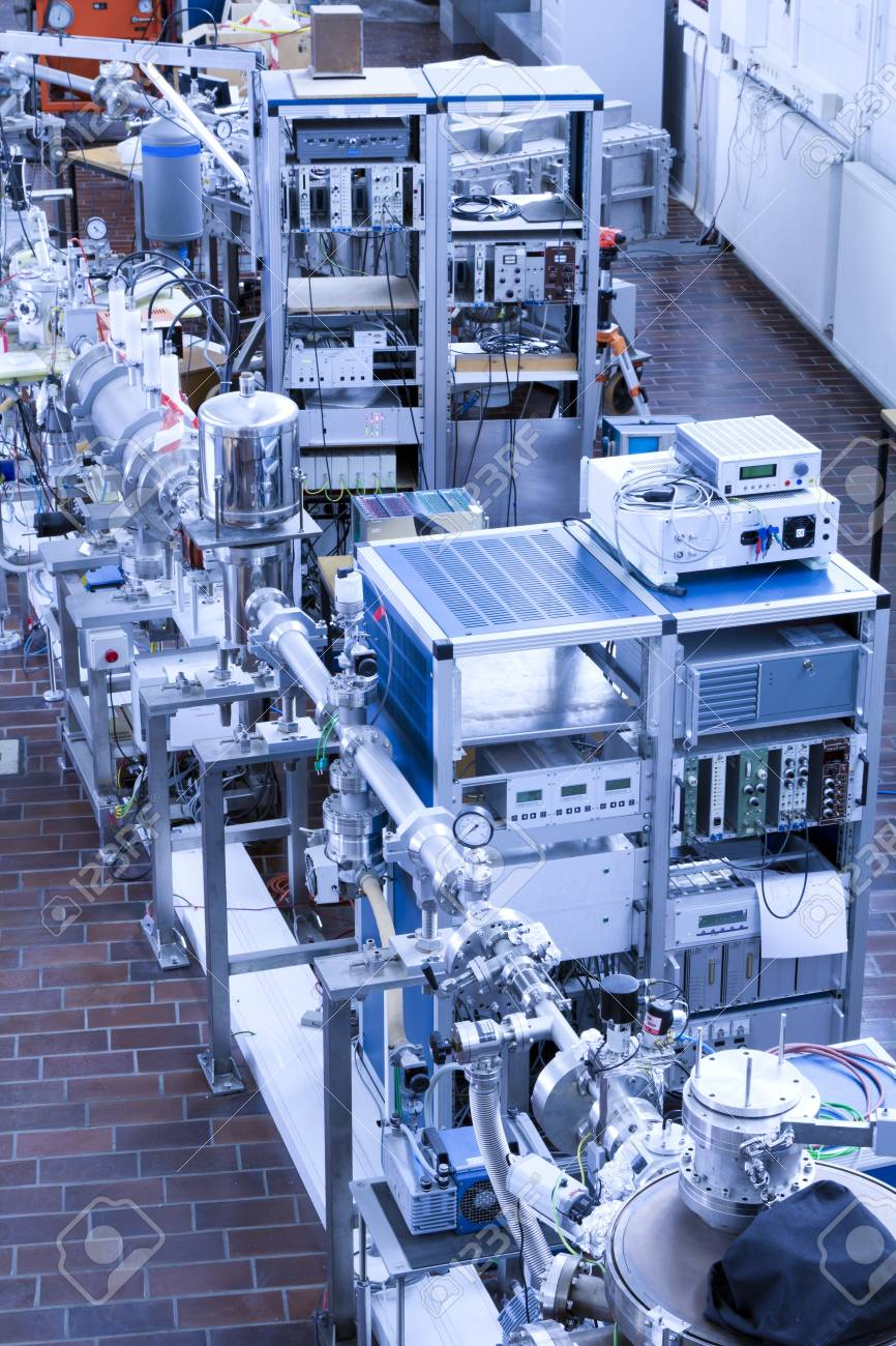View of important electronic and mechanical parts of ION Accelerator, Stock Photo - 13772922