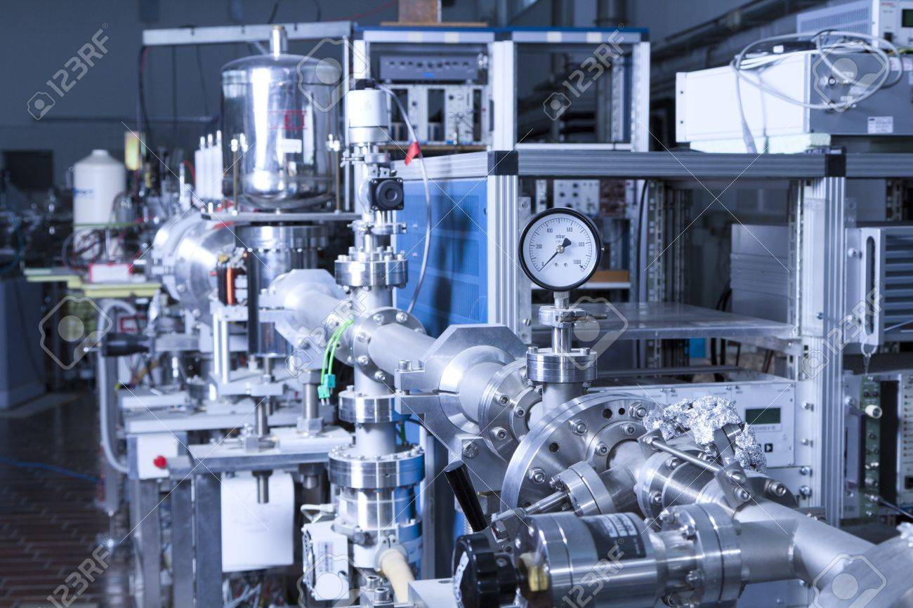 View of important electronic and mechanical parts of ION Accelerator, Stock Photo - 13772920