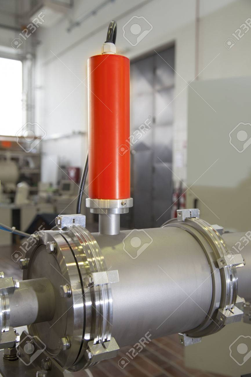 View of Important electronic and mechanical parts in ION Accelerator command room, CNC machined parts Stock Photo - 22859725