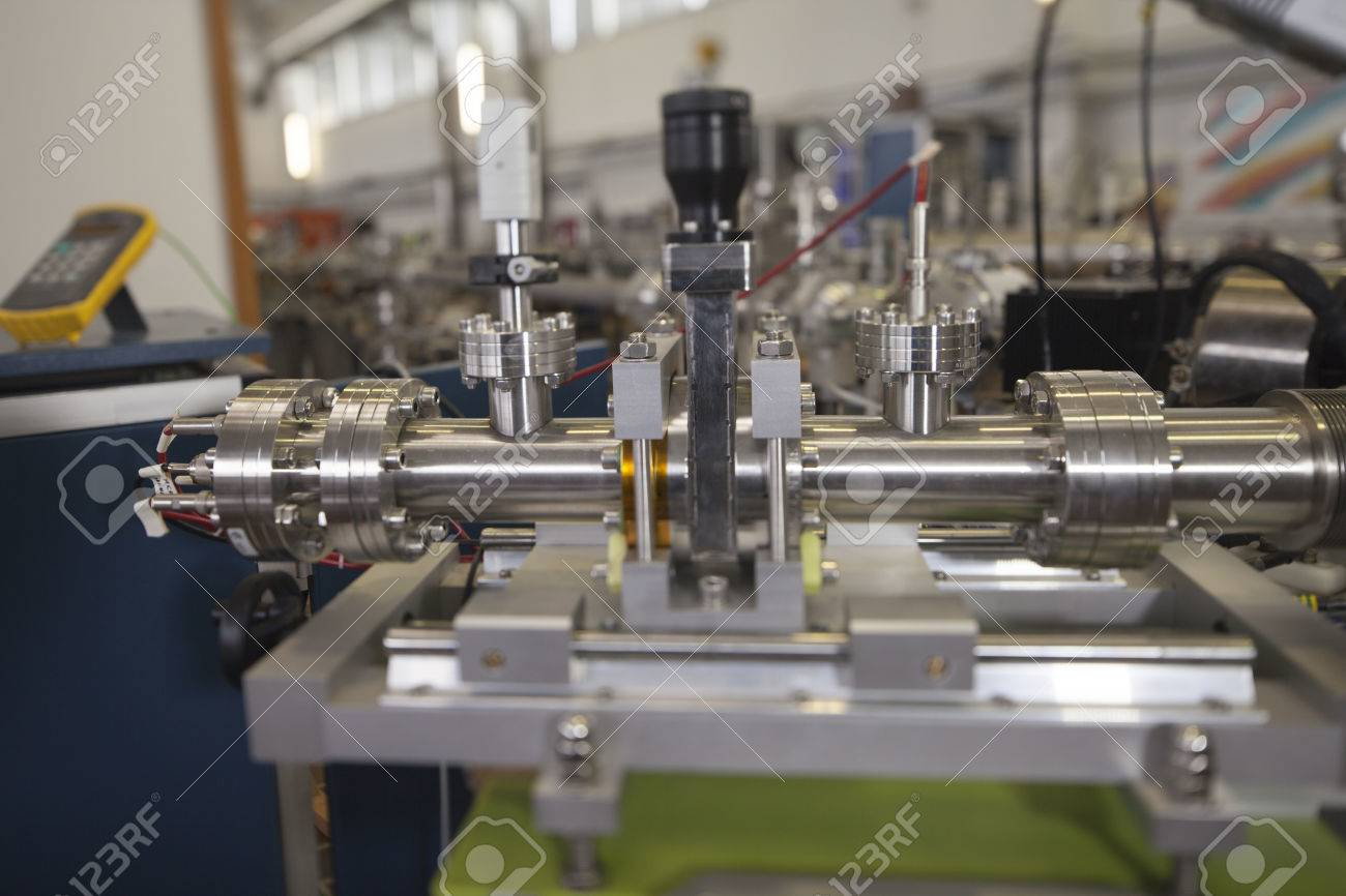 View of Important electronic and mechanical parts in ION Accelerator command room, CNC machined parts Stock Photo - 22859766