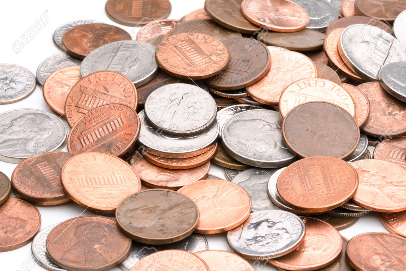 pile of US coins Stock Photo - 10091725