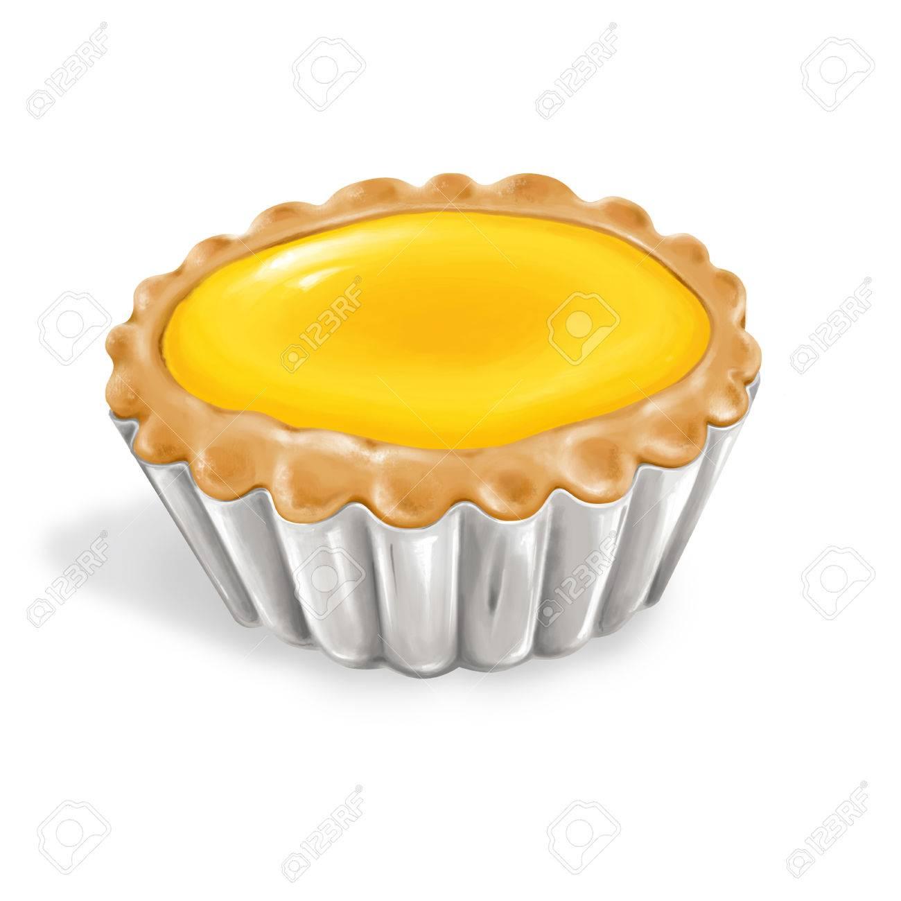 香港スタイルの食品卵のタルトのイラスト の写真素材画像素材 Image