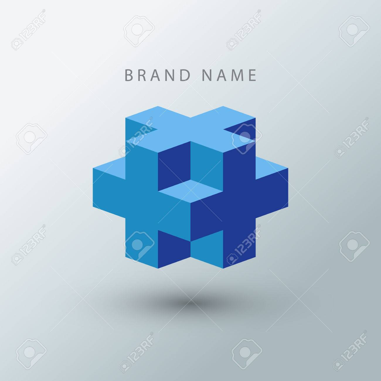 cube logo design template royalty free cliparts vectors and stock