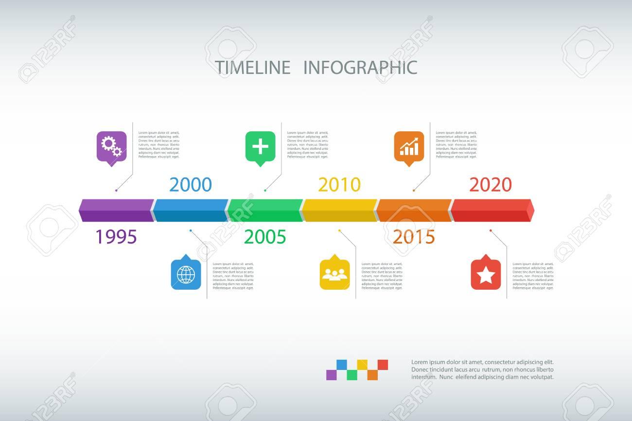 Timeline Infografik Design Template.Vector Illustration Für Workflow ...