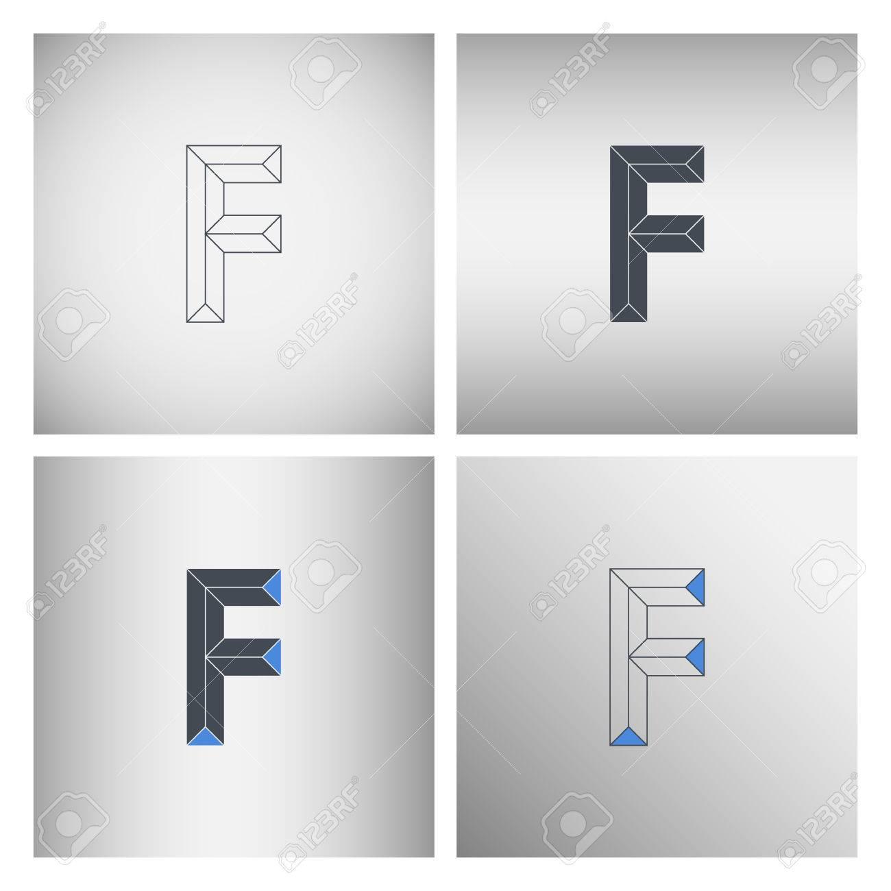 Set of letter f logo icons logo design template vector set of letter f logo icons logo design template vector illustration stock vector maxwellsz