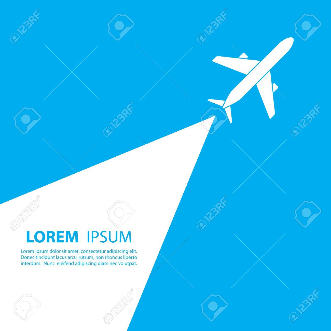 Flugzeug-Logo-Design. Logo Der Fluggesellschaft Design. Sky Reisen ...