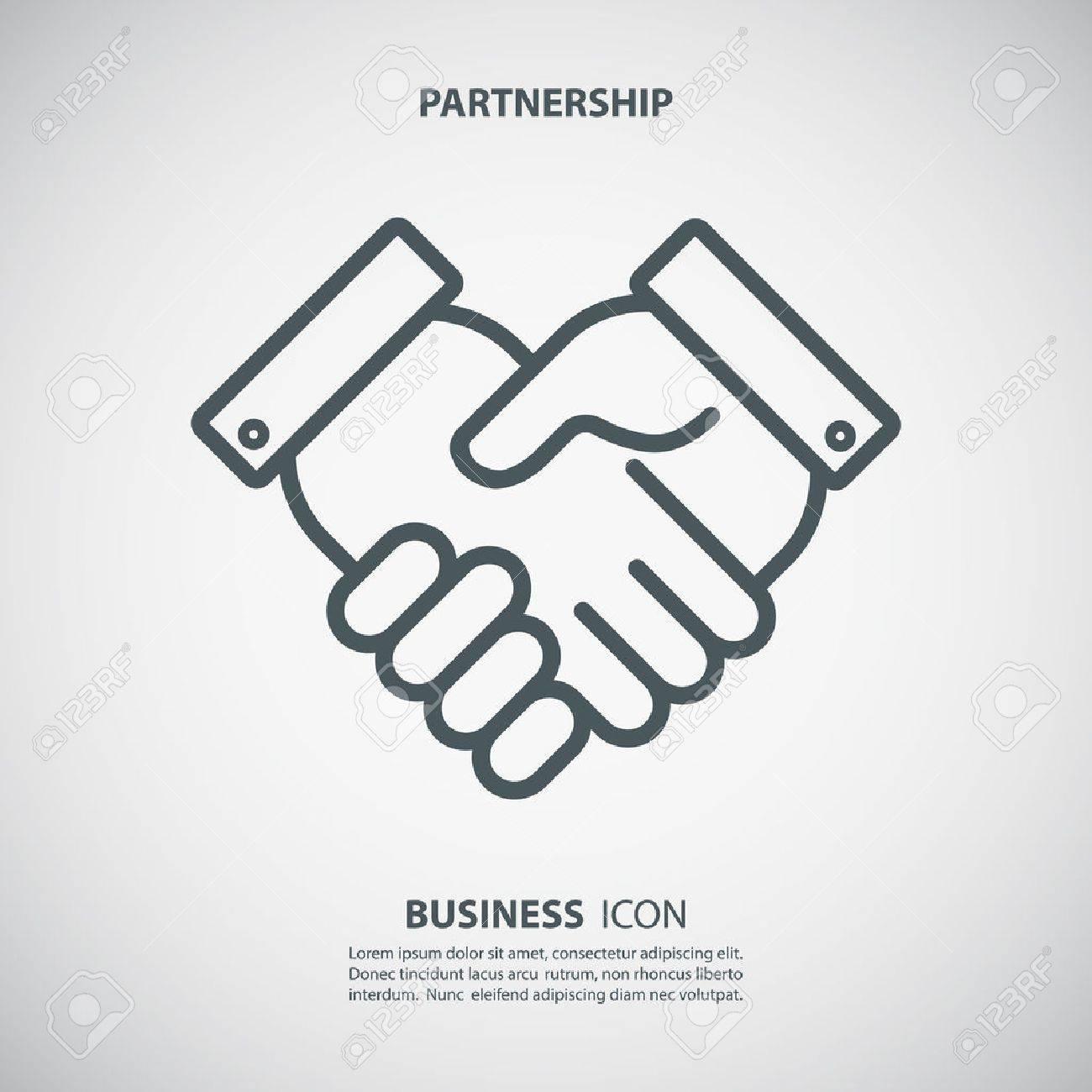 Partnership icon. Handshake icon. Teamwork and friendship. Business concept. Flat vector illustration. - 55084783