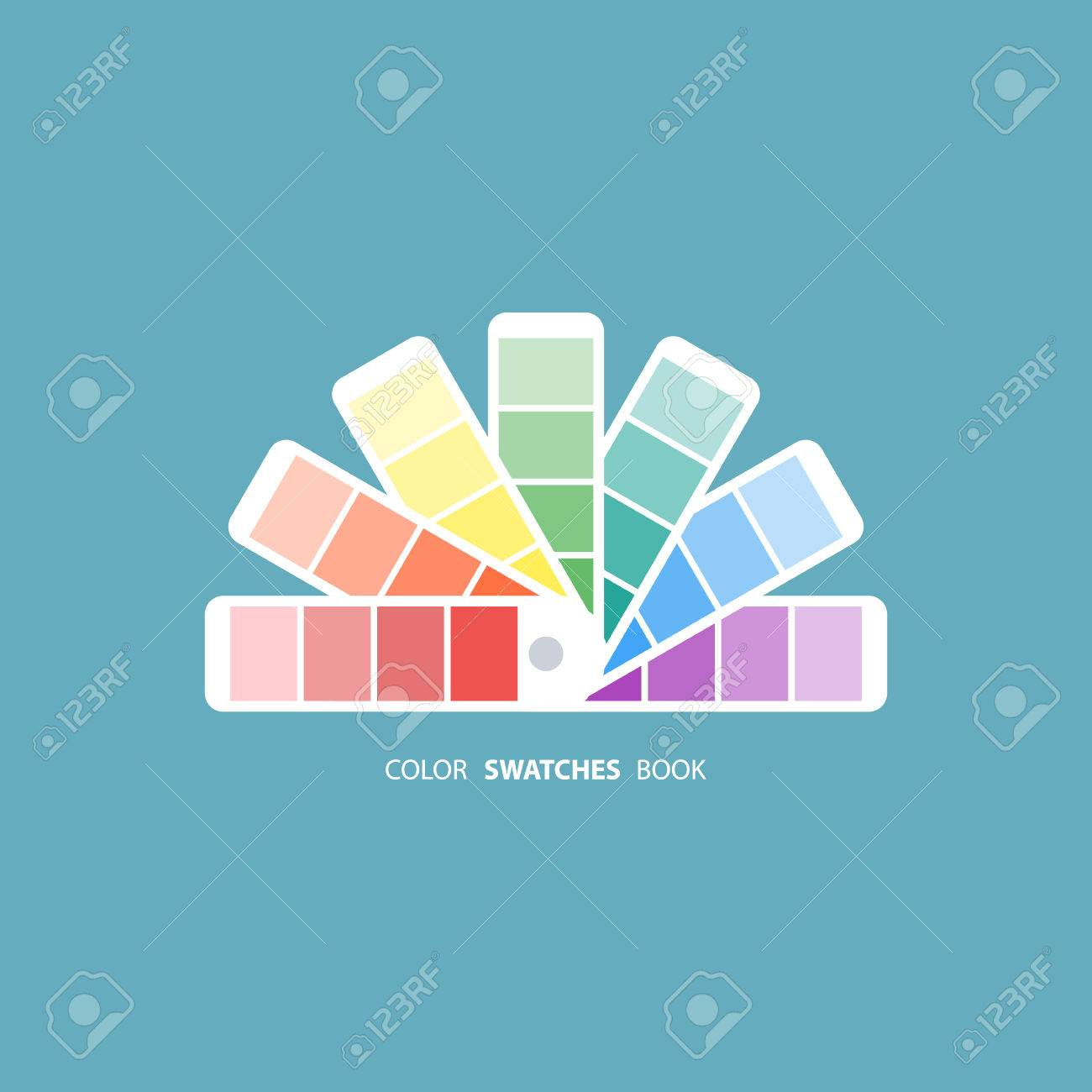 Color Swatches Book. Color Palette Guide. Color Swatch Icon ...