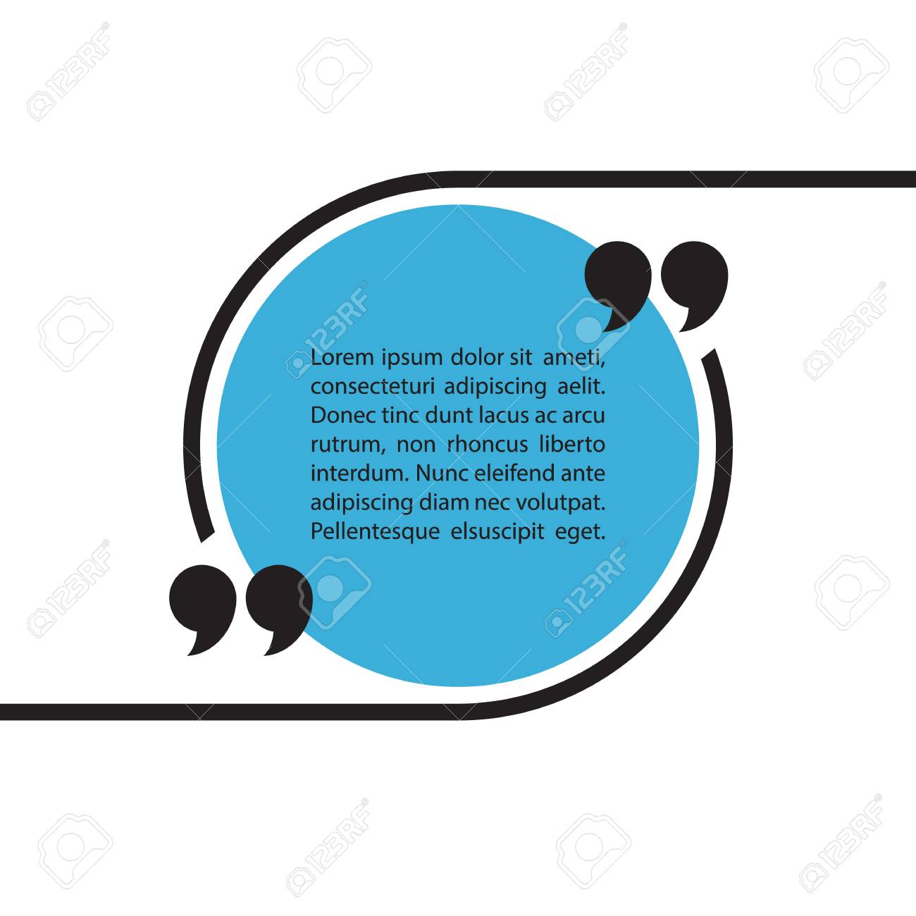 quote text bubble on white background quote bubble template