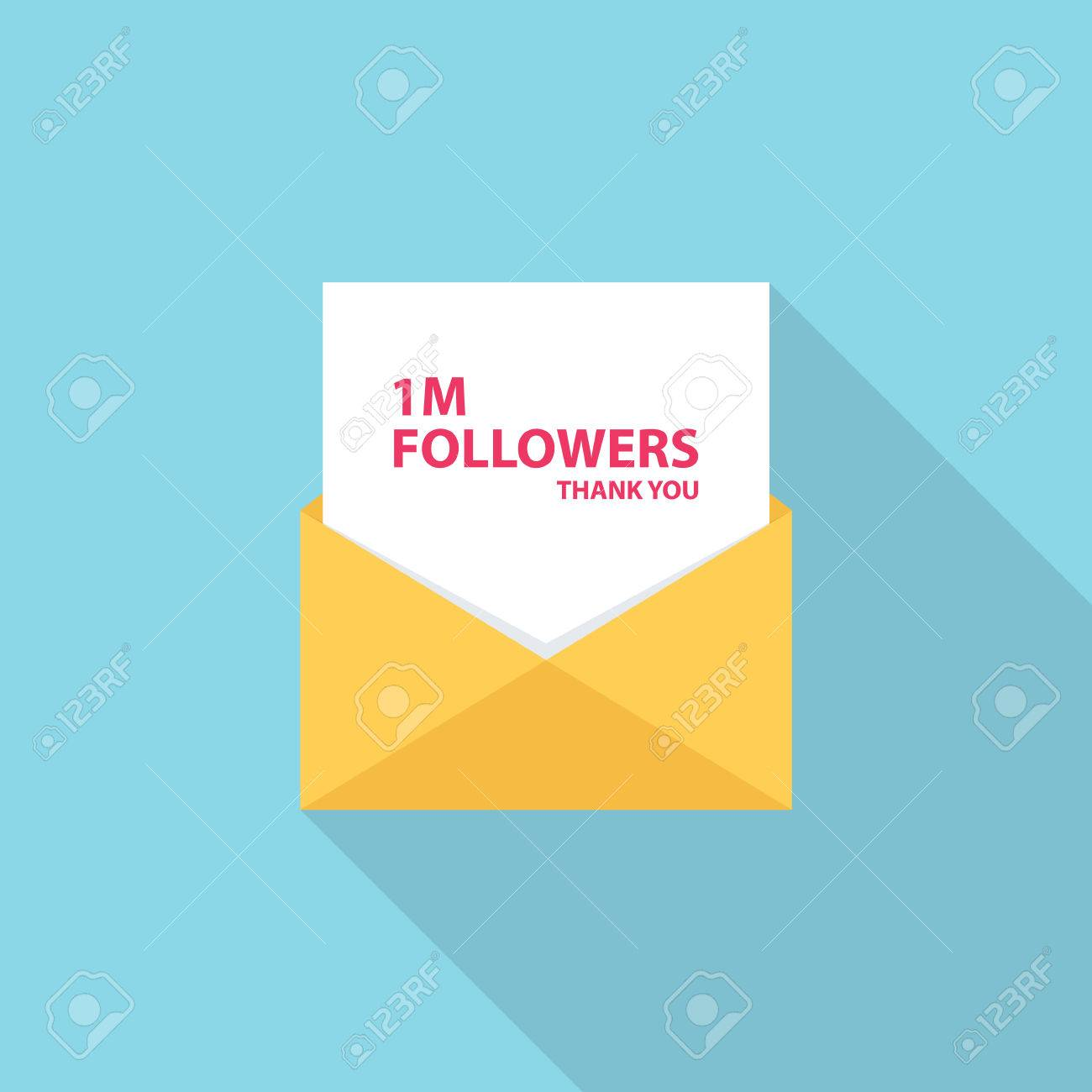 1m followers thank you letter email or message 1 million vector 1m followers thank you letter email or message 1 million followers card template for social networks promotion and advertising expocarfo Gallery