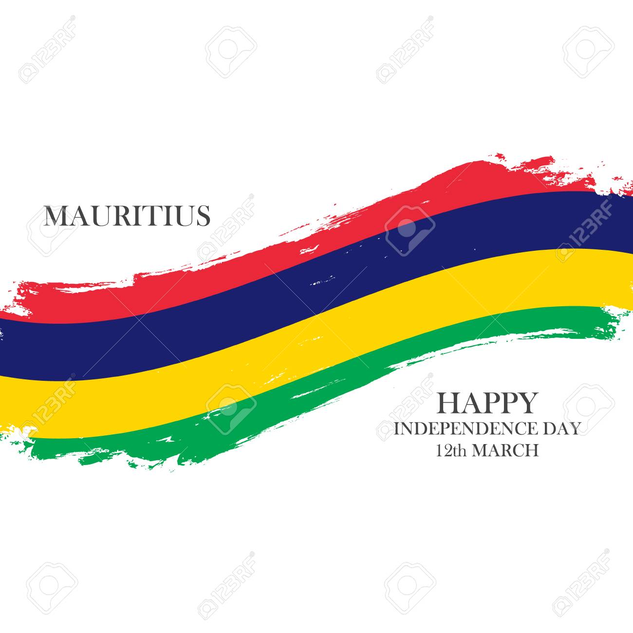 Mauritius Happy Independence Day 12 March Greeting Card With
