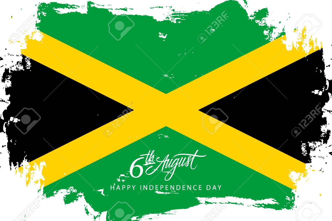 Jamaica Happy Independence Day August Greeting Card With - Jamaica independence day