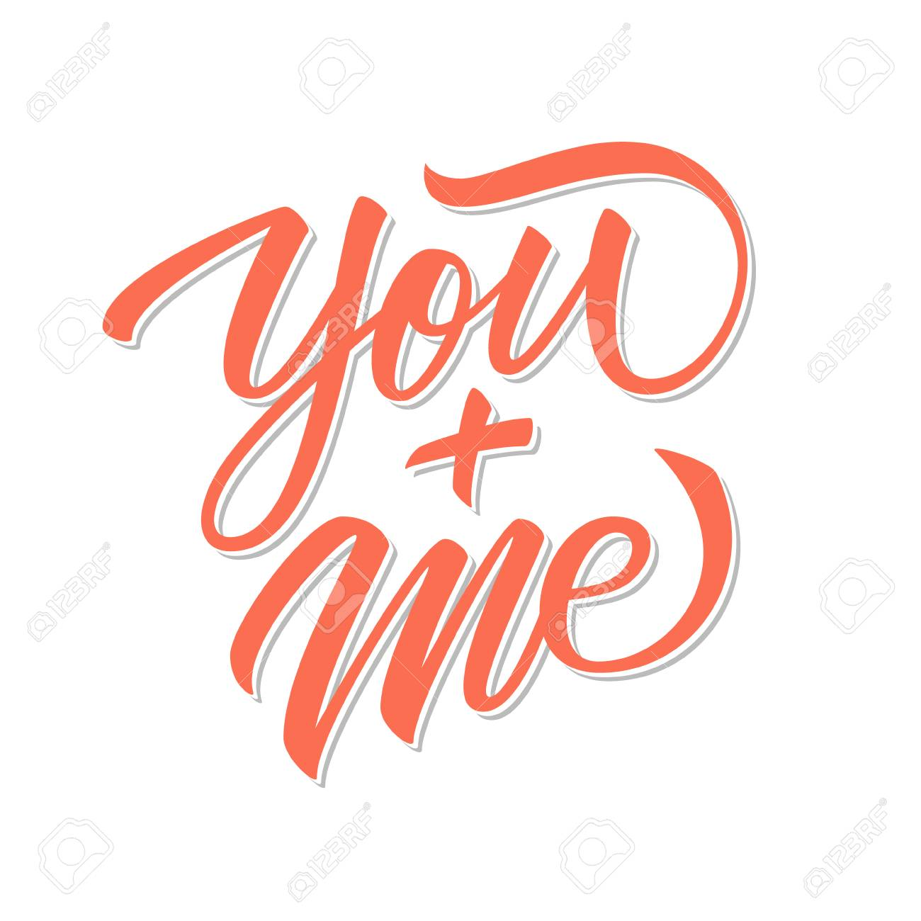 You and me calligraphic lettering text design creative typography you and me calligraphic lettering text design creative typography for romantic greetings vector illustration kristyandbryce Choice Image