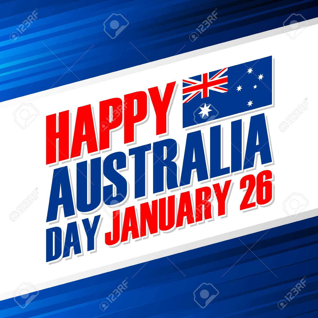 Happy australia day january 26 greeting card vector illustration happy australia day january 26 greeting card vector illustration stock vector 93003886 m4hsunfo
