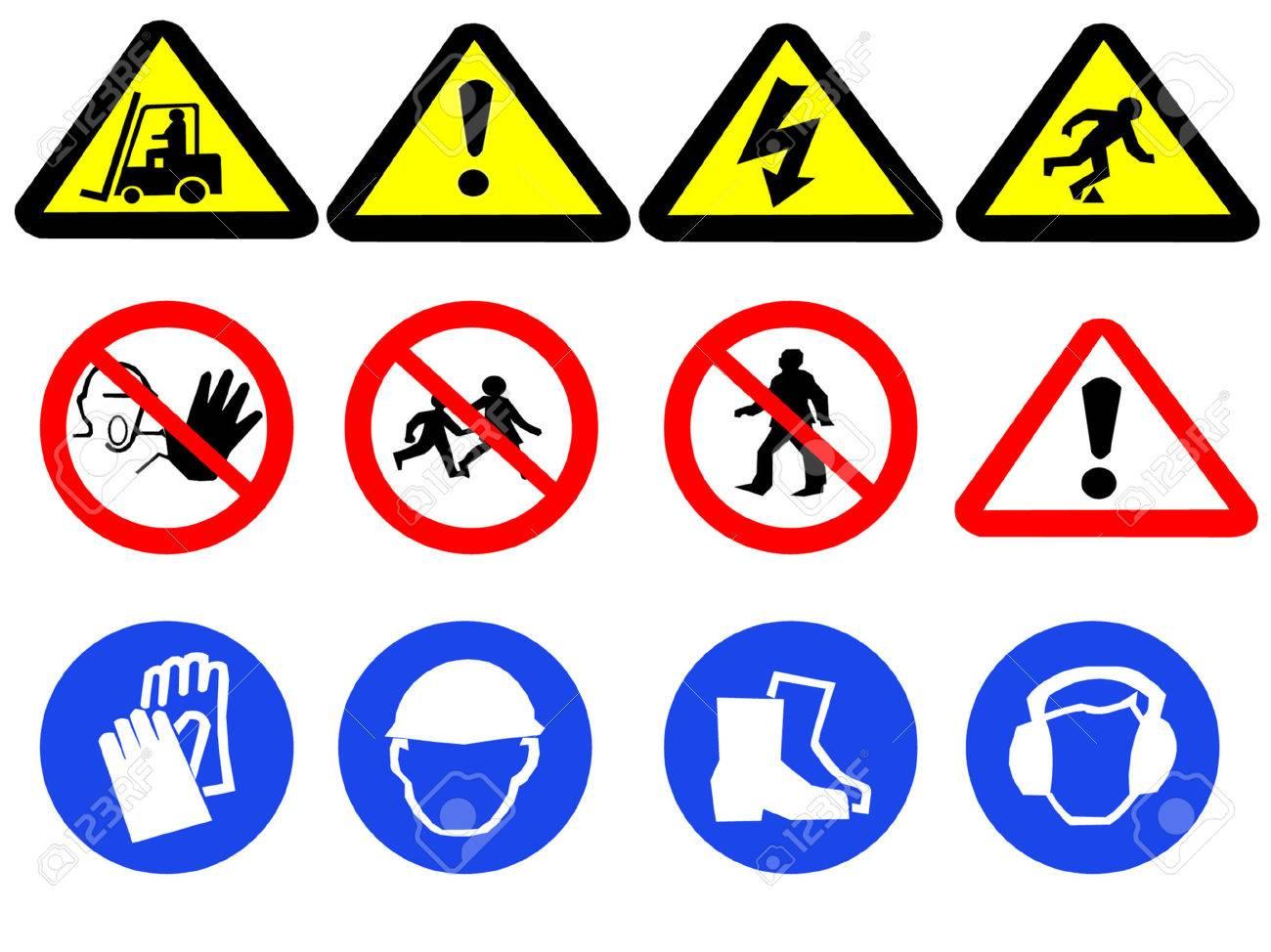 Construction hazard signs Stock Vector - 452122