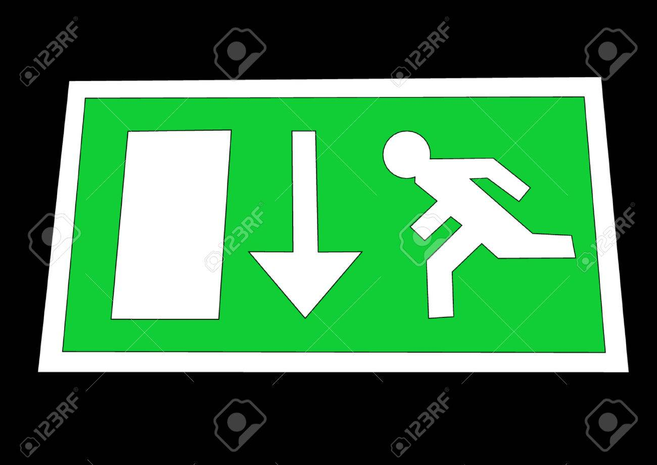 Emergency exit sign Stock Vector - 487694