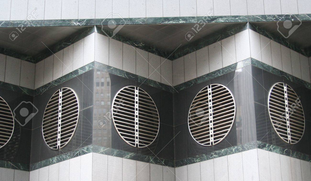 Modern Architecture Detail modern architecture detail air vent on side of building stock