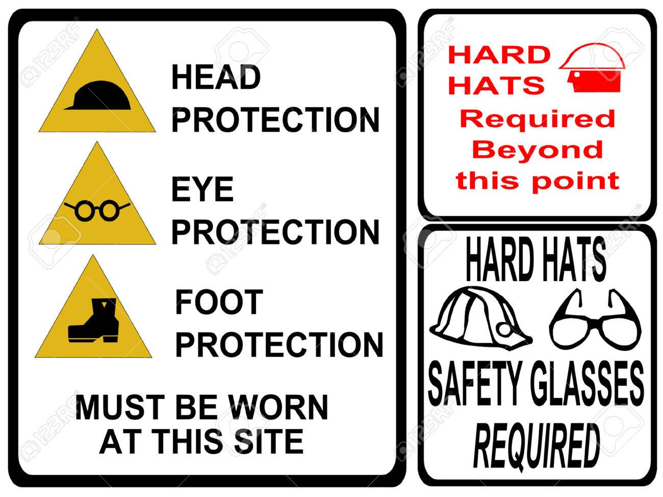 construction safety signs Stock Vector - 586339