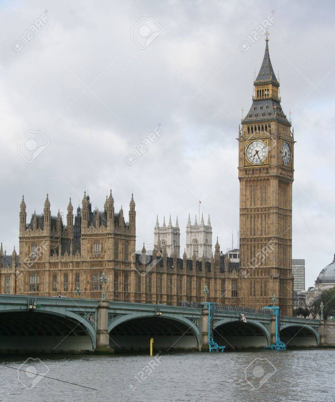 houses of parliament and westminster bridge London Stock Photo - 753736