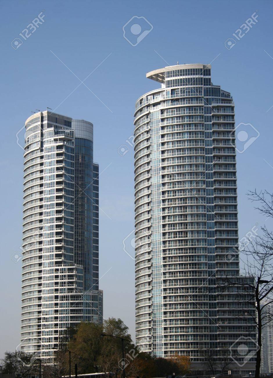 Fancy Apartment Building luxury apartment buildings lakeshore condos toronto canada stock
