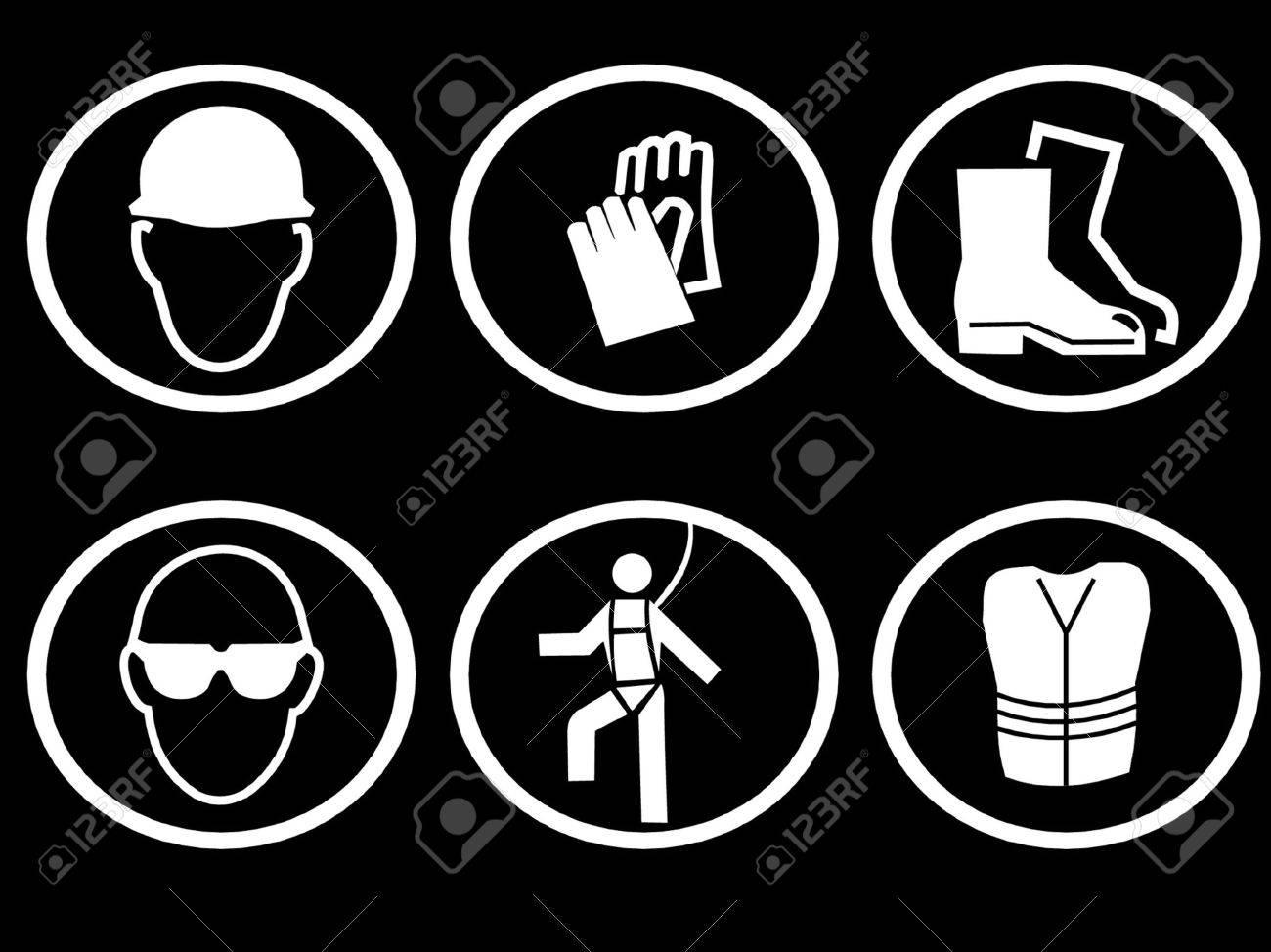 Construction site safety equipment symbols royalty free cliparts construction site safety equipment symbols stock vector 779561 buycottarizona