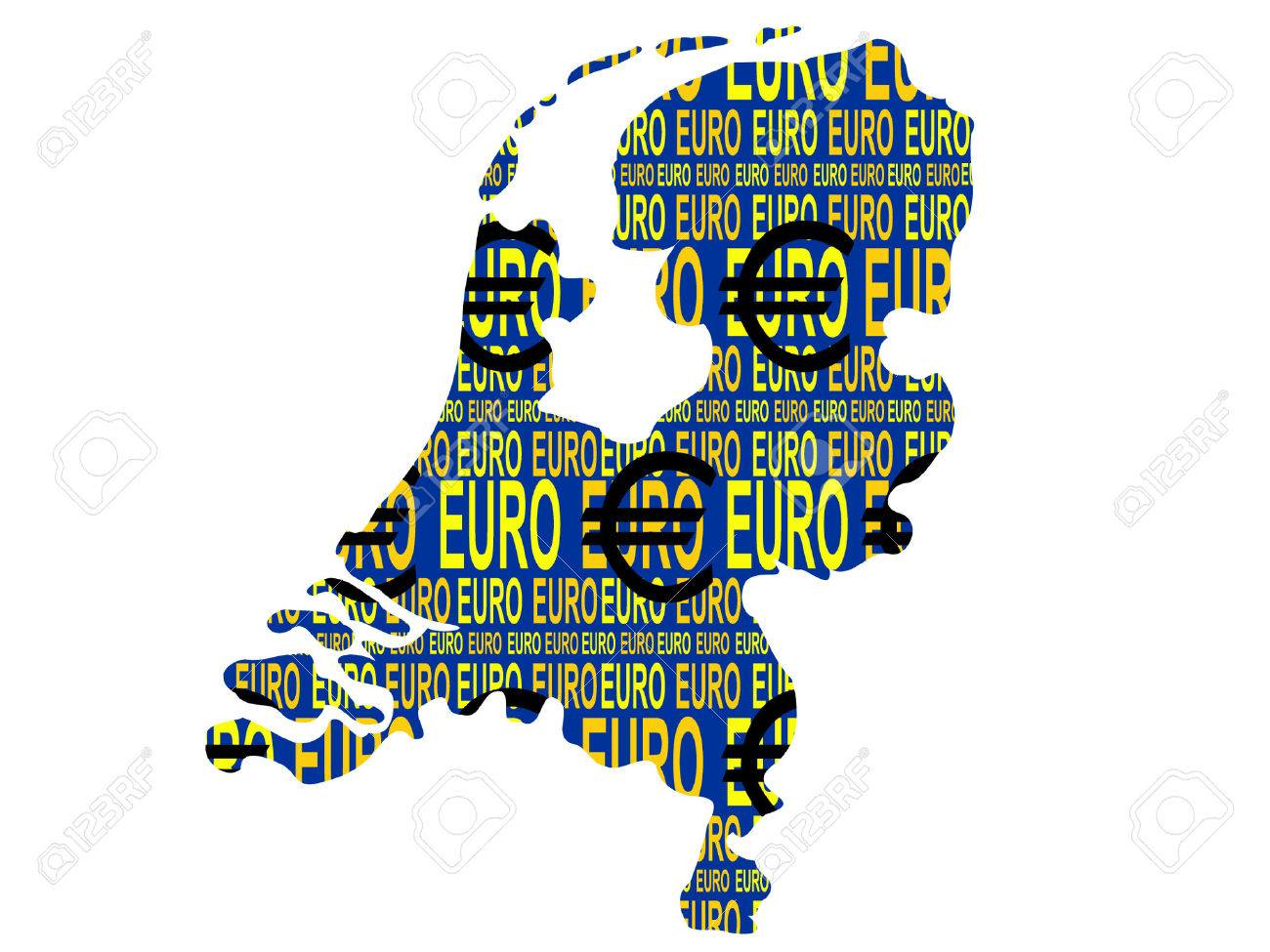 map of Netherlands and euro currency illustration Stock Vector - 839083