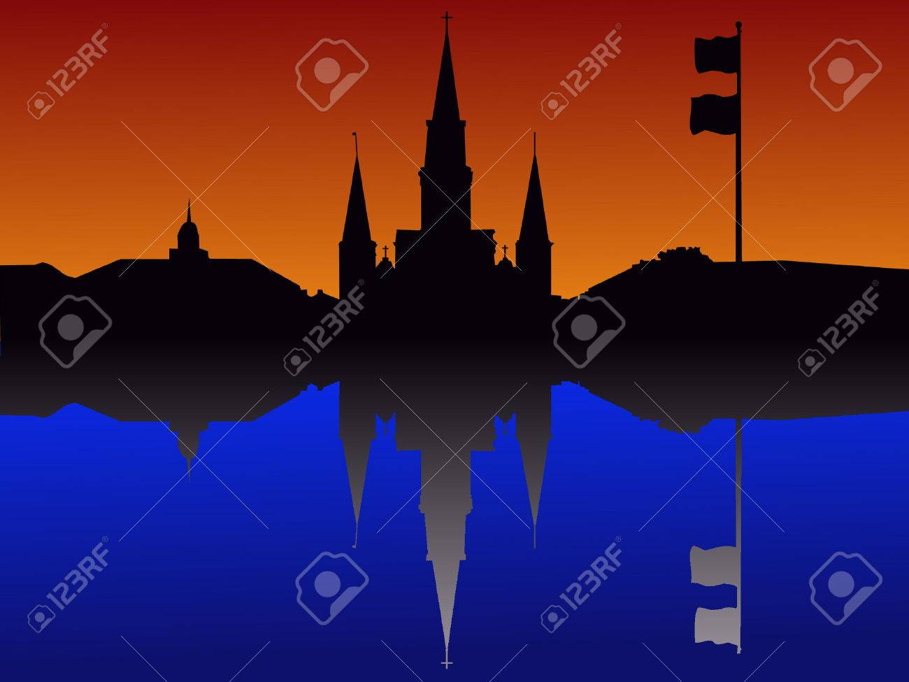St Louis Cathedral Jackson Square New Orleans Stock Vector - 866664