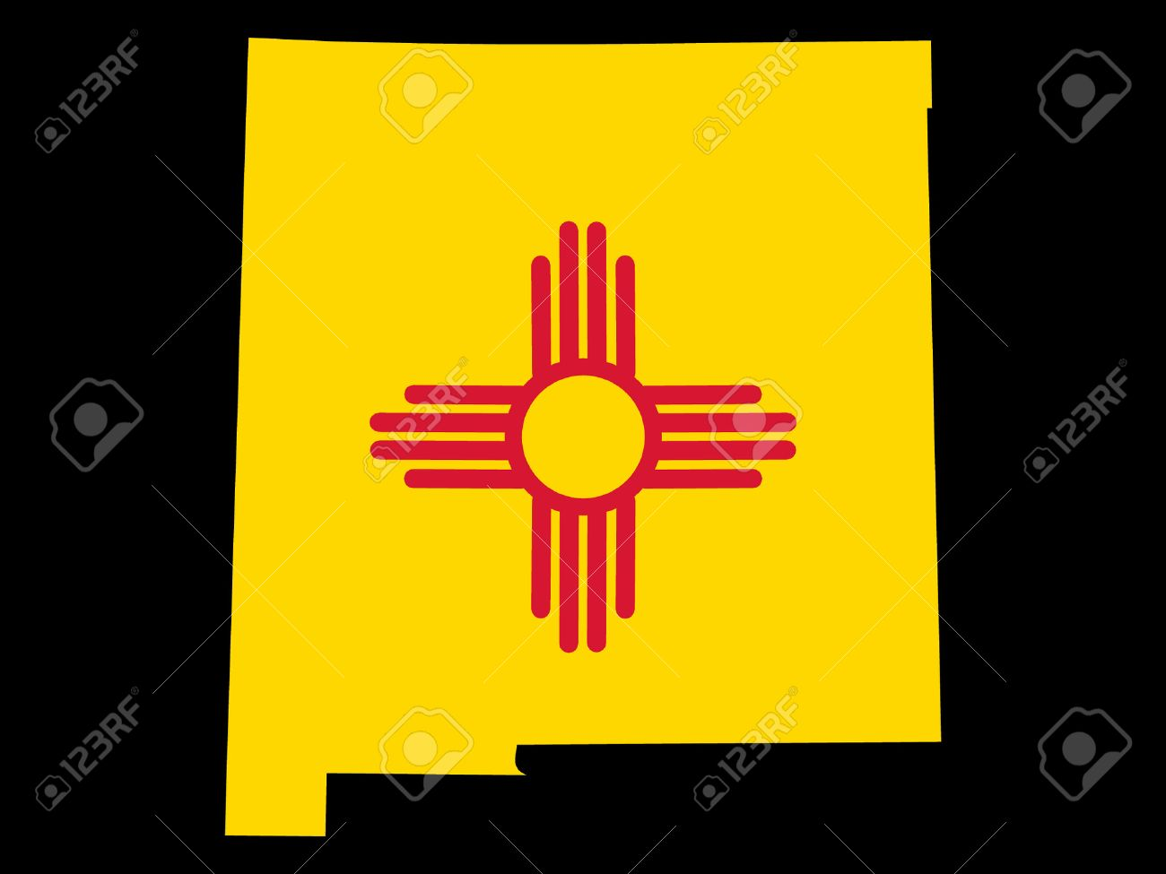 Free New Mexico Map.Map Of The State Of New Mexico And Their Flag Royalty Free Cliparts