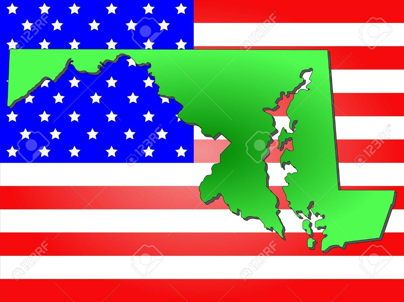 FileMap Of USA MDsvg Wikimedia Commons Silhouette And Colored - Maryland map usa