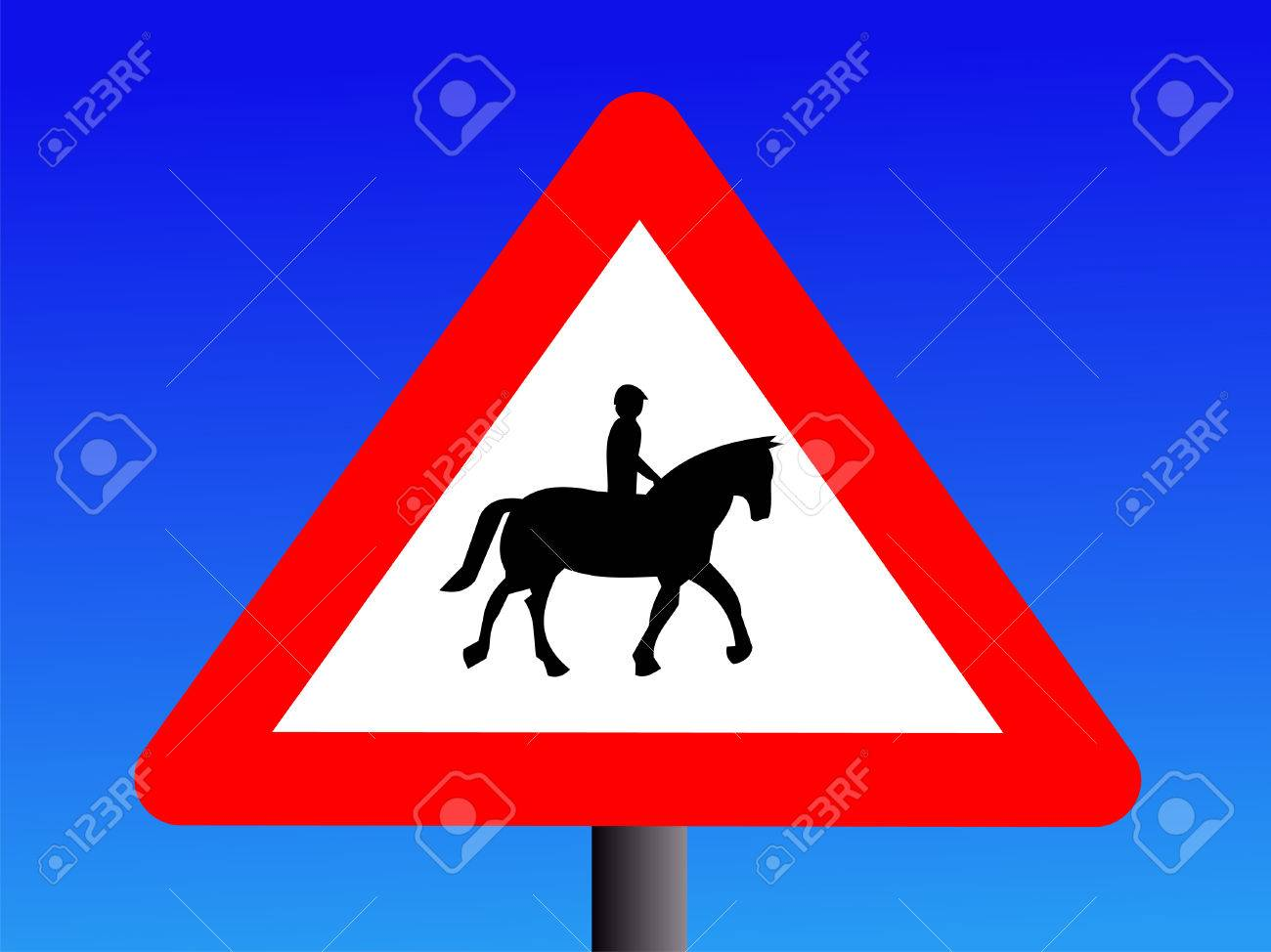 Horse Road Sign Horse Riders Road Sign