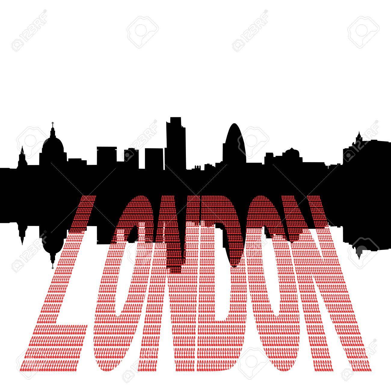 London skyline including st pauls cathedral with pound symbol london skyline including st pauls cathedral with pound symbol text illustration stock illustration 4395805 buycottarizona Images